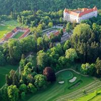 """Delegazione di giornalisti golfisti italiani sul green di Mokrice per il """"torneo dell'amicizia"""""""