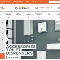 Nuova versione in inglese per B24 Store, e-commerce di accessori per il bagno professionali