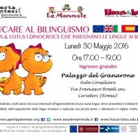 30 maggio 2016 a Cerveteri: Educazione al bilinguismo nei bambini