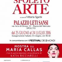 Spoleto Arte: nella mostra curata da Sgarbi un omaggio celebrativo a Maria Callas
