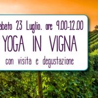 Sabato 23 luglio: yoga in vigna a Monforte d'Alba #yogainvigna