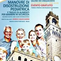 Il Dottor Marco Squicciarini l'11 ottobre a Firenze, Palazzo Vecchio per il Corso gratuito di Manovre Disostruzione Pediatriche