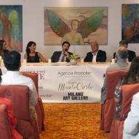 Premio Monte Carlo: premio prestigioso con l'Ambasciatore Gallo, il manager Salvo Nugnes, Munari di Radio Monte Carlo e Ferretti del Museo Buonarroti