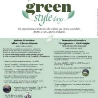 Sabato 15 e domenica 16 ottobre 2016 Udine ospita i Green Style Days