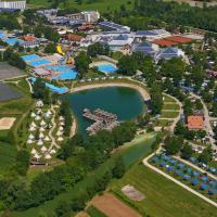 100 nuove piazzole per l'area camping e biglietto unico per accedere al parco acquatico indoor e outdoor