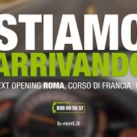 B-RENT annuncia l'apertura della stazione di noleggio auto a Roma