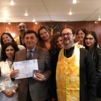 Una delegazione ucraina incontra il prof. avv. Corrado Labisi per la consegna di due prestigiosi riconoscimenti