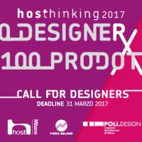 """HOSThinking: Apre la call """"10 Designer per 100 Prodotti"""""""