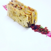 Radicchio rosso in biscotto di parmigiano