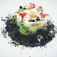 Tortino di polpo e patate con pesto di olive