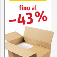 Prezzi scontati per le scatole di cartone ratioform: fino al 43% di sconto