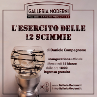 """Arte, Galleria Moderni: Daniele Compagnone in mostra con """"L'esercito delle 12 scimmie"""""""
