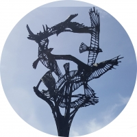 Il bronzo del maestro d'arte Robert Cook è ancora fluido