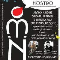 UDINE- Enrico Nadai e Nicolas Bozzato ospiti all'inaugurazione del negozio di moda giovane