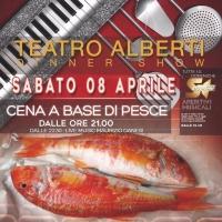 Cena a Base di pesce  Live music  By Maurizio Danesi al Teatro Alberti di Desenzano