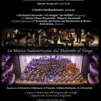 Centro del Bandoneón di Roma GRANDE CONCERTO -LA MUSICA SUDAMERICANA: DAL MALAMBO AL TANGO - Martedì 18 luglio, ore 19.30 - Auditorium CasACLI