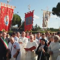 Castello di Cisterna: Giunge l'effige di Maria SS. dell'Arco dal Santuario di Sant'Anastasia. Processione  Comunità Parrocchiale e Fujenti. (Scritto da Antonio Castaldo)