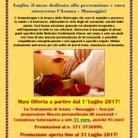 Maxi promozione Aroma- Massaggio fino al 31 Luglio 2017