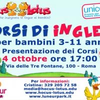 Corsi di inglese per bambini al Luneur Park di Roma
