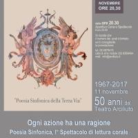 Teatro Arciliuto – Roma, Sabato 11 novembre 1967/2017 -  50 anni di Arciliuto: 'Un cuore di carta velina' di e con Enzo Samaritani