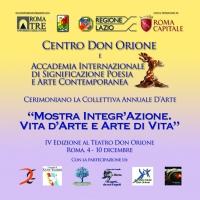 Mostra Integr'Azione. Vita d'Arte e Arte di Vita. IV Edizione romana della collettiva d'arte oltre le differenze.