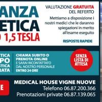 Risonanza magnetica aperta a Roma?   Installata presso il Medical House Vigne Nuove la nuova Risonanza magnetica aperta ad alto campo 1,5 tesla