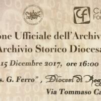 Calabria Formazione presenta l'Archivio Storico Diocesano online di Reggio Calabria-Bova