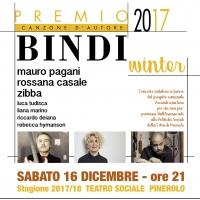 PREMIO BINDI WINTER SABATO 16 DICEMBRE  AL TEATRO SOCIALE DI PINEROLO