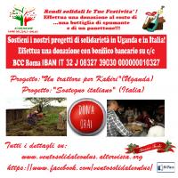 """L'ASSOCIAZIONE """"VENTO SOLIDALE – ONLUS"""" IMPIEGA LE DONAZIONI RICEVUTE - AL 100% - A FAVORE DEI POVERI IN ITALIA E UGANDA !"""