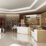 Estetica e funzionalità in una nuova linea d'arredo per negozi: Contemporary FOOD by CRC Arredamenti.