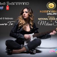 Milena Setola premiata a Casa Sanremo con il National Voice Awards