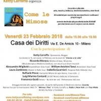 COME LE MIMOSE - Evento culturale (Milano 23 febbraio)
