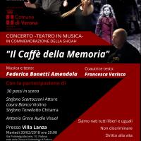 """Concerto teatro in musica """"Il Caffè della Memoria"""""""