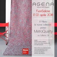 Agena al FUORISALONE 2018. Al Brera Design District con le nuove collezioni di tessuti e carte da parati.