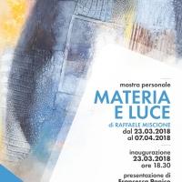 Materia e Luce: l'informale di Raffaele Miscione alla AM Studio art gallery