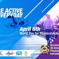 """Giornata mondiale dell'attività fisica (6 aprile 2018): """"Sii attivo/a ogni giorno!"""""""
