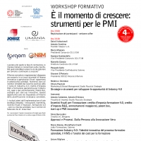 "WORKSHOP GRATUITO ACCREDITATO PAUCIULO STRATEGIE ""È IL MOMENTO DI CRESCERE: STRUMENTI PER LE PMI"""