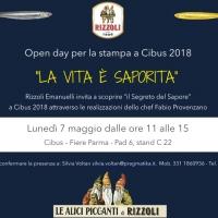 """""""La Vita è saporita"""" scopri con Rizzoli Emanuelli """"il Segreto del Sapore"""" a Cibus 2018"""