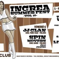 DAL 5 AL 10 LUGLIO, AL PARCO INCREA DI BRUGHERIO... INCREA SUMMER FEST 2018 - 10° edizione...