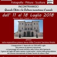 INCONTRI DI CULTURA E PACE a Villa Corsini Sarsina - ANZIO 11 LUGLIO 2018