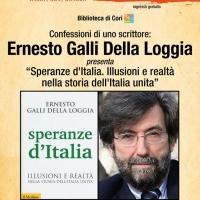 Speranze d'Italia. Illusioni e realtà nella storia dell'Italia unita. Ernesto Galli Della Loggia a Cori per le Confessioni di uno Scrittore