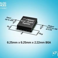 Regolatore µModule da 40V, 2,5A, 150°C, pinout conforme ai criteri FMEA, in package BGA di 6,25mm x 6,25mm