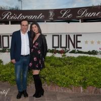 Antonello De Pierro e Alessia Piochi a Sabaudia per apertura stagione estiva Le Dune