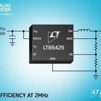 Step-Down sincrono Silent Switcher 2 da 18 V, 10 A (IOUT), con un livello di efficienza del 95% a 2 MHz ed emissioni EMI ultra-basse