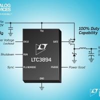 Controllore step-down DC/DC da 150V richiede solo 9µA nei sistemi alimentati a batteria