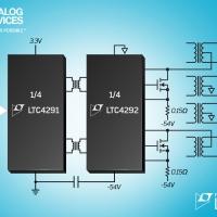 """Controller PSE isolato a 4-porte """"Power over Ethernet"""" conforme alla IEEE 802.3bt"""