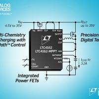 Regolatore/charger sincrono monolitico multi-chemistry PowerPath da 3,2A, 35VIN/35VOUT con telemetria digitale I2C e MPPT