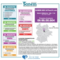 Analisi cliniche convenzionate Roma  -  Laboratori analisi Gruppo Sanem