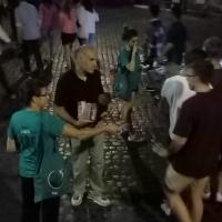 A Piazza di San Calisto per scoraggiare l'uso di droghe.