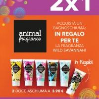 Incredibile promo solo da Pinalli: fino al 30 settembre con l'acquisto di un bagnoschiuma Animal Fragrance, subito in regalo un bagnoschiuma nella fragranza Wild Savannah!